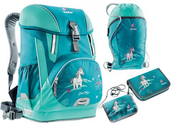 Школьный рюкзак с наполнением Deuter OneTwo 20 л голубой 3830116-3037/SET2