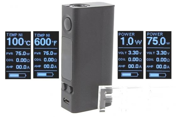 Батарейный мод Joyetech eVic VTwo Mini Simple 75 W серый vapor electronic cigaratte rofvape witcher box mod 75w tc kit with atomizer airflow vaporizer vs evic vtwo min istick pico mega