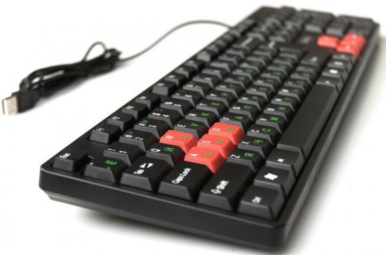 Клавиатура проводная Dialog KS-030U USB черный красный цена