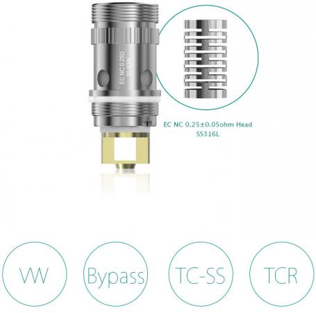 Испаритель Eleaf NC Coil 0.25 Ом original 100w eleaf istick pico kit with 4000mah 21700 battey mod