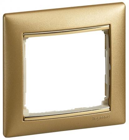 Рамка Legrand Valena 1 пост золотистый 770301 рамка legrand valena life 1 пост алюминий 754241