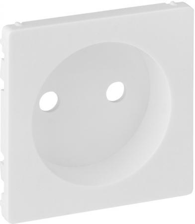 Лицевая панель Legrand Valena Life силовой розетки 2К белый 754970 светорегулятор legrand valena life поворотный без нейтрали белый 752460