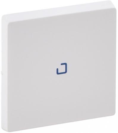 Лицевая панель Legrand Valena Life для выключателя одноклавишного с подсветкой/индикацией белый 755100 механизм выключателя двухклавишный simon 15 с индикацией 16а белый