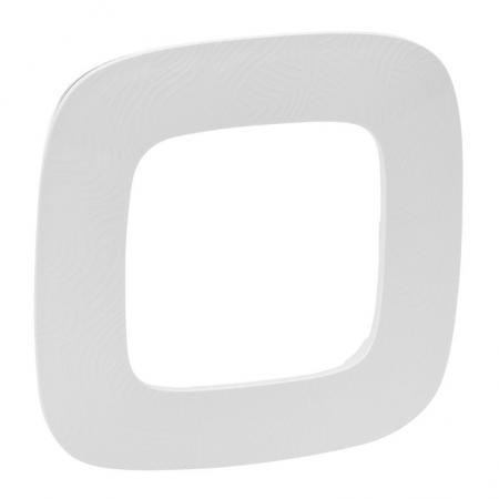 Рамка Legrand Valena Allure 1 пост белый 754371 заглушка legrand valena 774446 белый