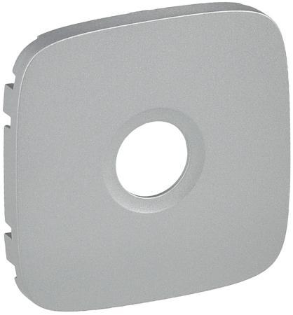 Лицевая панель Legrand Valena Allure для розеток ТВ алюминий 754767 legrand лицевая панель legrand valena allure выключателя перекрестного с подсветкой алюминий 755277