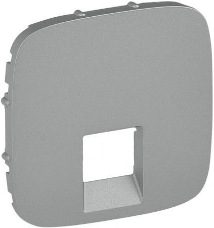 Лицевая панель Legrand Valena Allure для одиночных телефонных/информационных розеток алюминий 755417