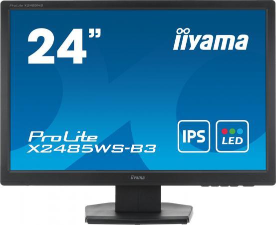 Монитор Iiyama 24.1 XB2485WS-B3 черный IPS LED 4ms 16:10 DVI M/M матовая HAS 250cd 178гр/178гр 1920x1200 D-Sub DisplayPort FHD 4.8кг