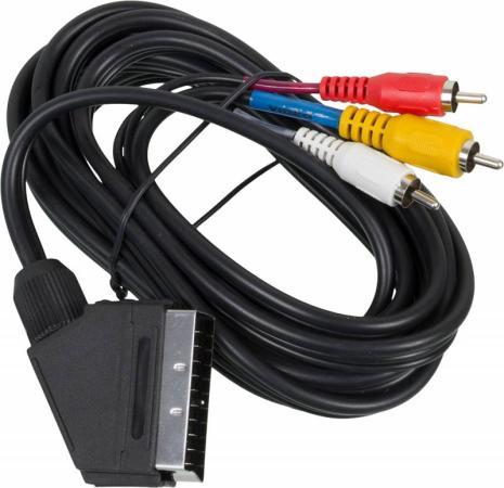 Кабель соединительный 3.0м Ningbo SCART(m) - 3xRCA(m) JSC005-3