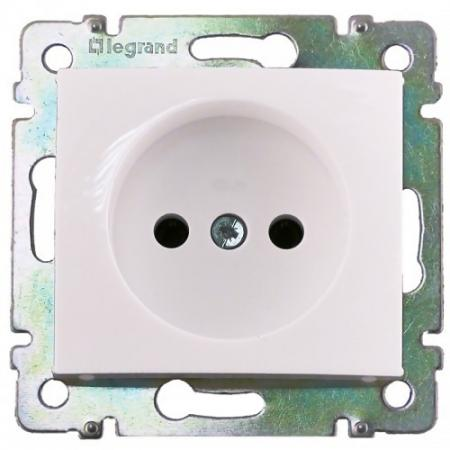 Розетка Legrand Valena 2К+З белый 774222