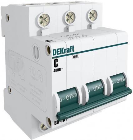 Автоматический выключатель Schneider Electric ВА101 3П 10A C 11077DEK  автоматический выключатель schneider electric ва101 3п 50a c 11083dek