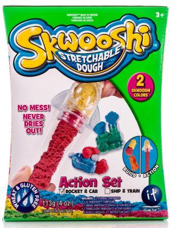 Набор для творчества Skwooshi Масса для лепки с аксессуарами 2 цвета S30007 всё для лепки fun dough набор пластилина 4 банки 1 бонус