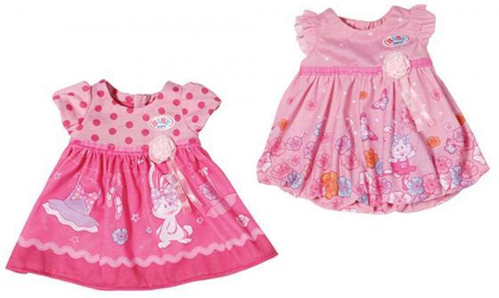 Платье для кукол Zapf Creation Baby Born - Розовое платье цвет в ассортименте памперсы zapf creation для кукол baby born 5 шт 815 816