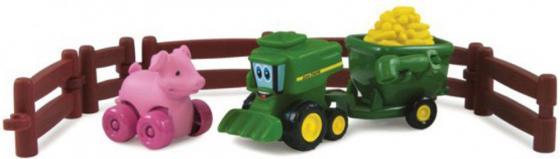 Игровой набор Tomy Приключения трактора Джонни и поросенка на ферме 9 предметов 377223 tomy игровой набор приключения трактора джонни и поросенка на ферме с 18 мес