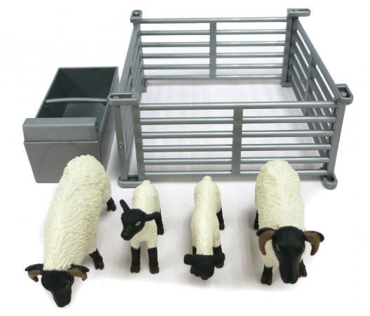 Игровой набор Tomy Овцы в загоне 6 предметов машинки tomy трактор john deere monster treads с большими резиновыми колесами tomy