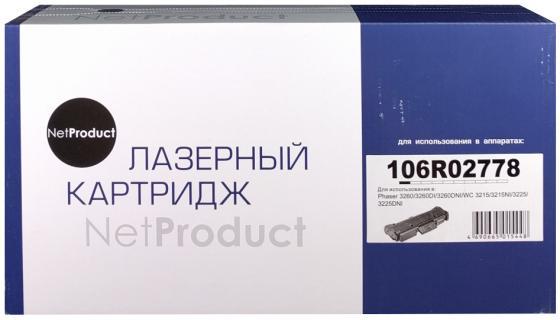 Фото - Картридж NetProduct 106R02778 для Xerox Phaser 3052/3260/WC 3215/3225 черный 3000стр картридж xerox 101r00474 phaser 3052 3260 wc3215 3225 10k drum superfine