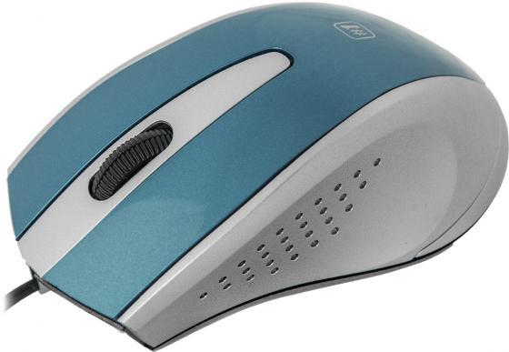 лучшая цена Мышь проводная Defender MM-920 синий серый USB 52920/52921