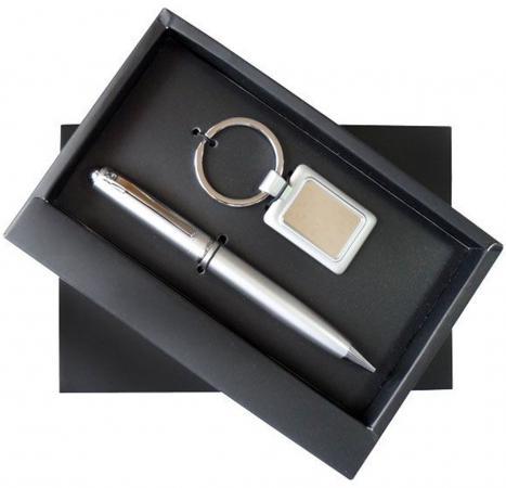 Набор: ручка шариковая + брелок, комбинированный ручки admiral набор 3 в 1 золотой тесть брелок ручка и зажигалка