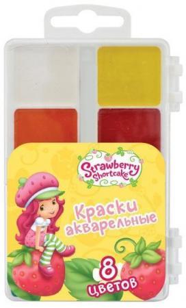 Акварель Action! STRAWBERRY SHORTCAKE 8 цветов SW-WP8/3 мелки для асфальта action strawberry shortcake 6 штук от 3 лет sw cca 6