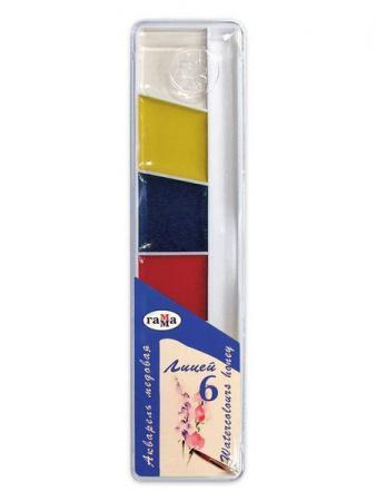 Акварель Гамма ЛИЦЕЙ (MAXI) 6 цветов 212063 акварель гамма лицей maxi 12 цв пл коробка с кистью