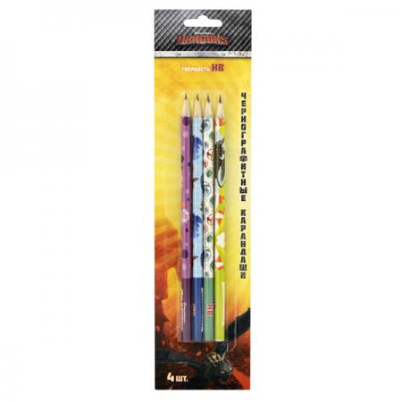 Набор графитовых карандашей Action! DRAGONS, 4 шт DR-ALP200/4 набор для битв dragons zippleback vs zipplecatcher