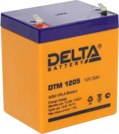 Батарея Delta DTM 1205 5Ач 12B new original dvp48eh00r3 delta plc eh3 series 100 240vac 24di 16do relay output