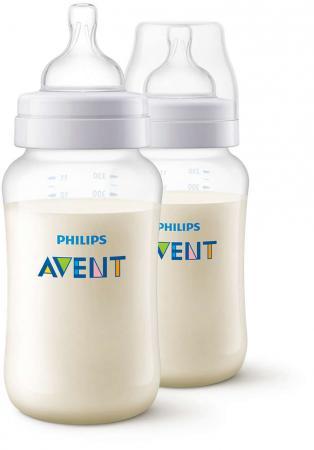 Бутылочка Avent Classic+ Pp, 330 мл, сил. соска, перем. поток, 3+, 2 шт., арт. 80032 avent бутылочка для кормления 125 мл