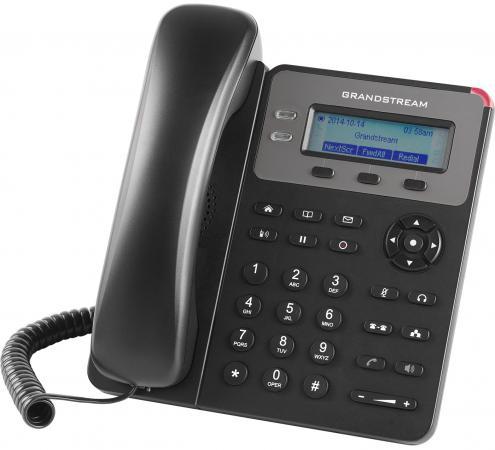Телефон IP Grandstream GXP1615 2 линии 1 SIP-аккаунта 2x10/100Mbps LCD PoE телефон ip grandstream gxp1760 6 линий 3 sip аккаунта 2x10 100mbps lcd poe blf