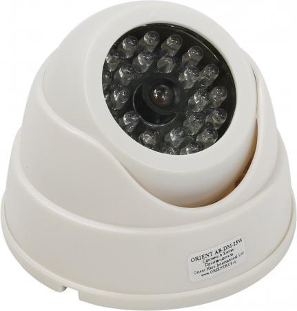 Муляж камеры видеонаблюдения ORIENT AB-DM-25W LED для наружного наблюдения муляж камеры видеонаблюдения fort automatics dc 027 наружное исполнение красный светодиод ret фиоле