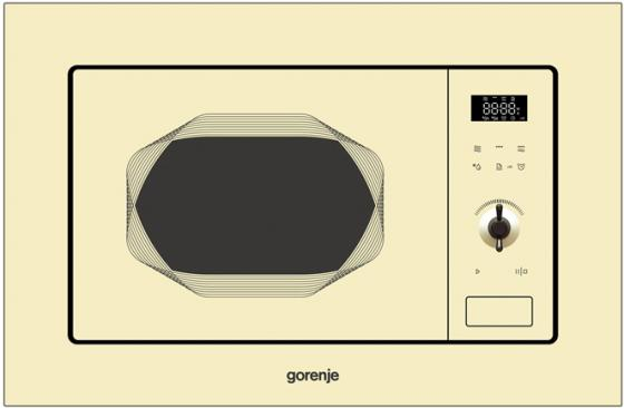 Встраиваемая микроволновая печь Gorenje BM201INI 800 Вт бежевый микроволновая печь bbk 23mws 927m w 900 вт белый