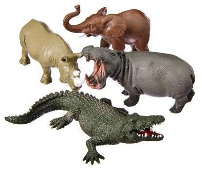 Набор фигурок Shantou Gepai Jungle animal 13 см Y149-