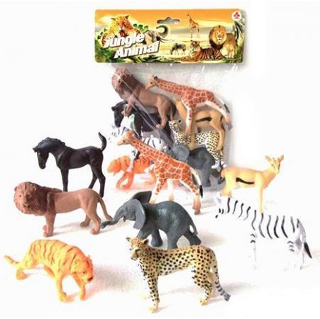 Набор фигурок Shantou Gepai Jungle animal 8 см 2A008-1