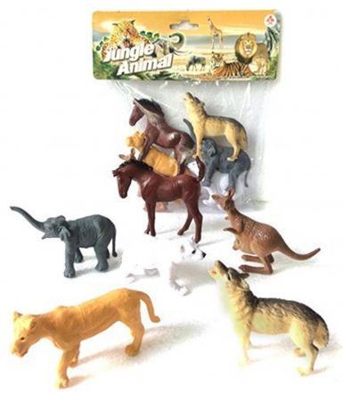 """все цены на Набор фигурок Shantou Gepai """"Jungle animal"""" 8 см 2A006-1"""