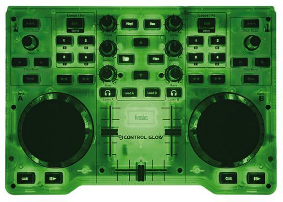 где купить Микшерный пульт Hercules DJControl Glow Green 4780839 по лучшей цене