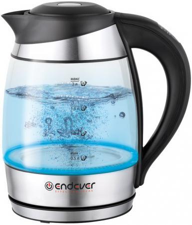 все цены на  Чайник ENDEVER Skyline KR-323G 2600 Вт 2 л стекло серебристый  онлайн