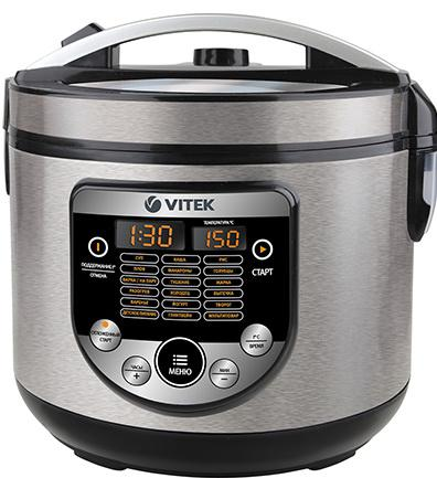 все цены на Мультиварка Vitek VT-4272(BK) 900 Вт 5 л черный серебристый онлайн