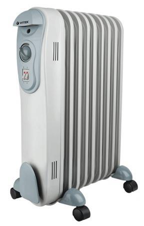 цена Масляный радиатор Vitek VT-2122(GY) 2000 Вт серый онлайн в 2017 году