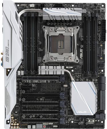 все цены на Материнская плата ASUS X99-DELUXE II Socket 2011-3 X99 8xDDR4 4xPCI-E 16x 1xPCI-E 1x 8xSATAIII ATX Retail онлайн