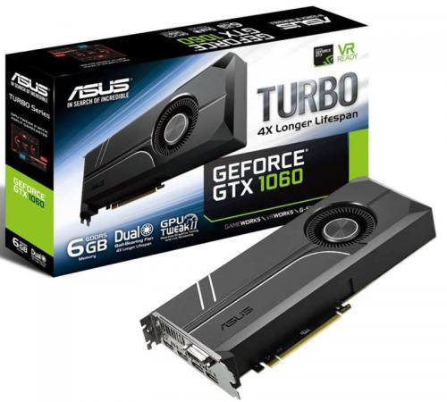 Видеокарта 6144Mb ASUS GeForce GTX1060 TURBO PCI-E 192bit GDDR5 DVI HDMI DP HDCP TURBO-GTX1060-6G Retail sexy halter push up color block underwire bikini set for women