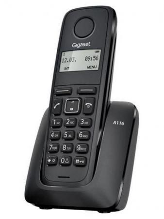 Радиотелефон DECT Gigaset A116 черный радиотелефон dect gigaset a540h черный