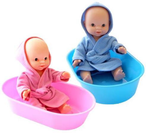 купить Пупс Игрушкин 22020 22 см в ванночке по цене 325 рублей