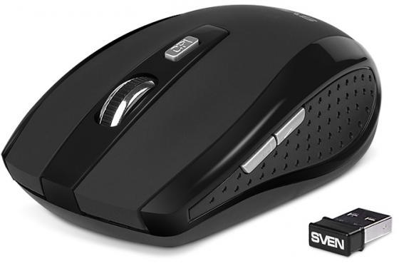 все цены на Мышь беспроводная Sven RX-335 Wireless чёрный USB онлайн