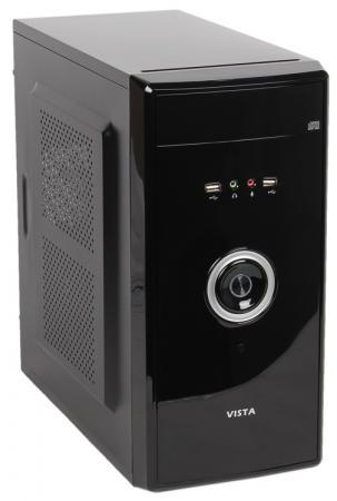 Корпус microATX Sun Pro Electronics VISTA V 450 Вт чёрный серебристый корпус microatx exegate mi 205l 300 вт чёрный серебристый ex249478rus