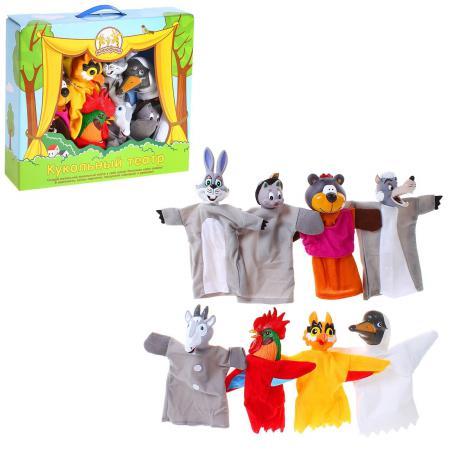 Игровой набор Жирафики Кукольный театр - Потешки 8 предметов 68348 игровой набор жирафики кукольный театр буратино 8 предметов 68344