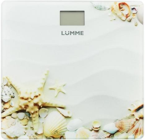 Весы напольные Lumme LU-1328 рисунок Морской пляж мультиварка lumme lu 1445 860 вт 5 л черный красный