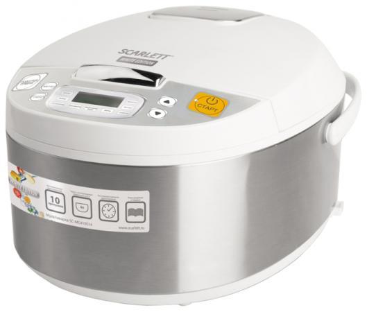 Мультиварка Scarlett SC-MC410S14 700 Вт 4 л серебристый белый мультиварка scarlett sc mc410s14 серебристый белый sc mc410s14