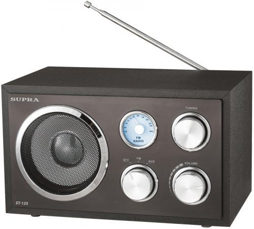 Радиоприемник Supra ST-125 черный supra lc 19250wl black