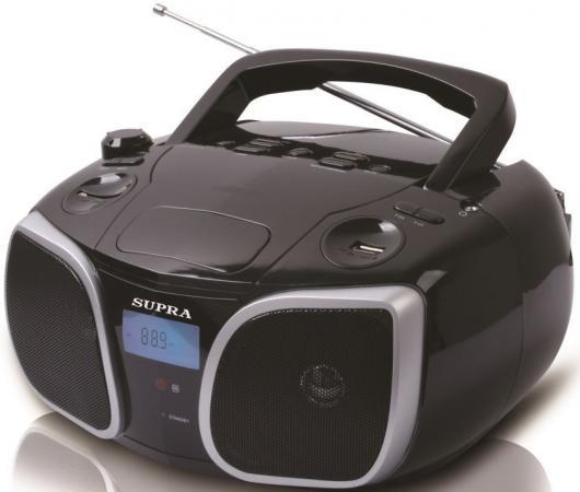 Магнитола Supra BB-29MUS черный телефон supra stl 111 белый
