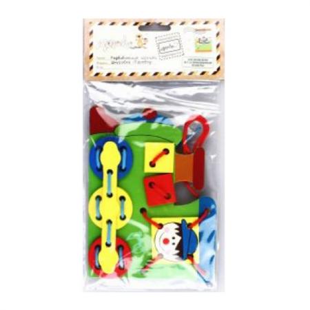 Шнуровка Mapacha Паровоз 76405 игрушка alex шнуровка завяжи шнурки от 3 лет 570wn