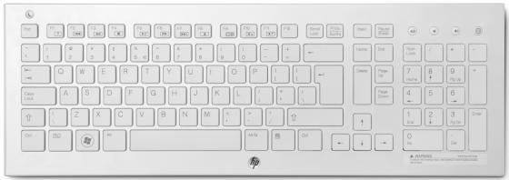Клавиатура беспроводная HP Wireless K5510 Keyboard USB белый H4J89AA клавиатура hp k5510 wireless keyboard white h4j89aa