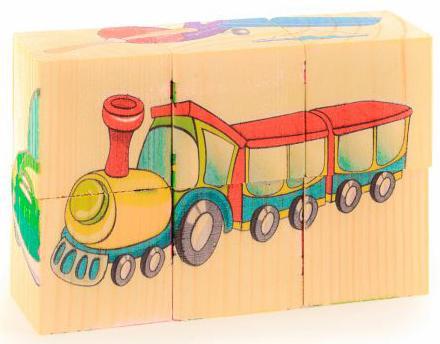 Кубики Русские деревянные игрушки Транспорт 6 шт. Д488а деревянные игрушки анданте кубики пазл транспорт